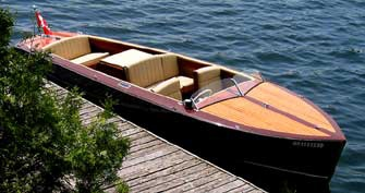 Classic Boat Custom Built  - first ALL ELECTRIC CLASSIC BOAT - Click on the image to check out this excellent ski boat by Montreal Classic Boatworks pn their website